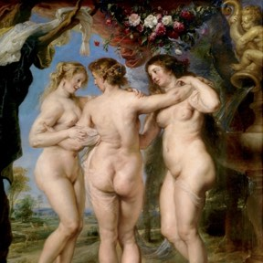 Detail of Rubens' Three Graces