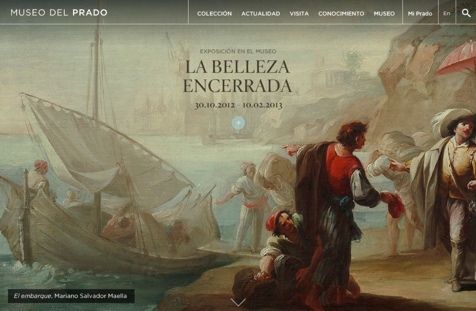 Prado Museum website screenshot